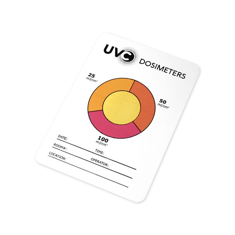 UV-C Ultraibolya Doziméter: UV-C fény mennyiségmérő, ellenőrző lap